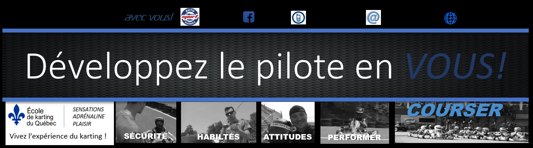 École de karting du Québec – Apprentissage de la ligne de course