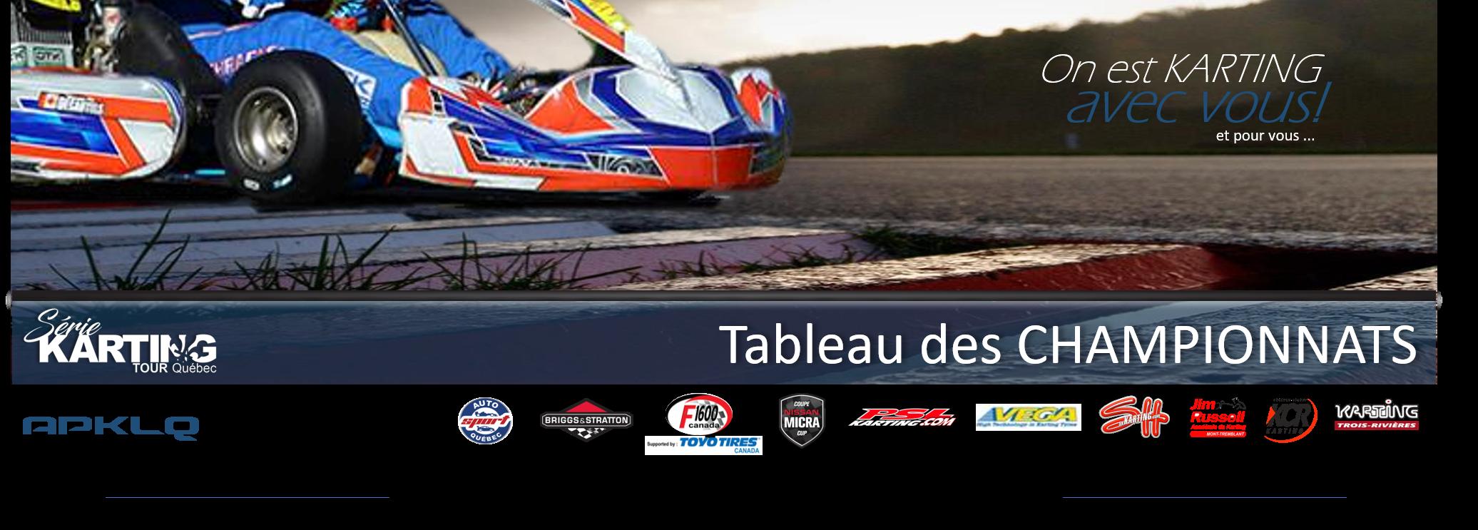 Série Karting TOUR Québec | Classement 2018-08-28