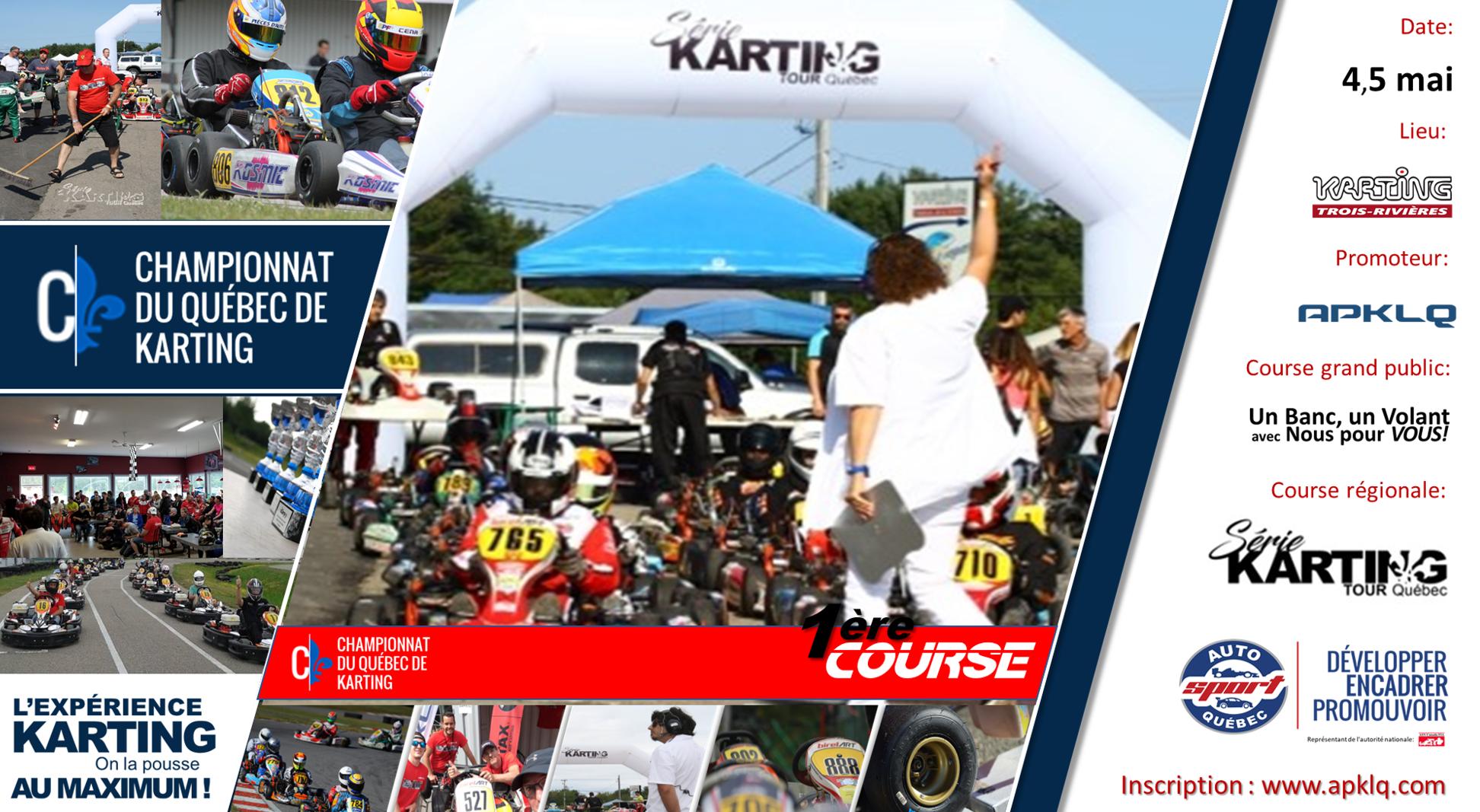 Première course de karting de la saison 2019